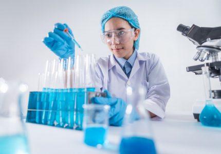 photo of female scientist working on laboratory